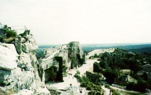 Pohled na střední část hradu