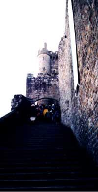 Mt. St. Michel - opatství na hoře Tombe
